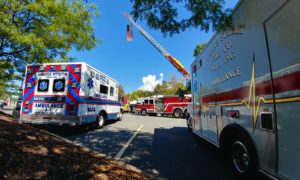 First responder EMS Fire Police at Oxygen Mask Event