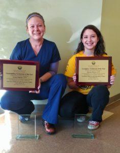 Winners of 2017 Veterinary Technician Week Awards at VREC