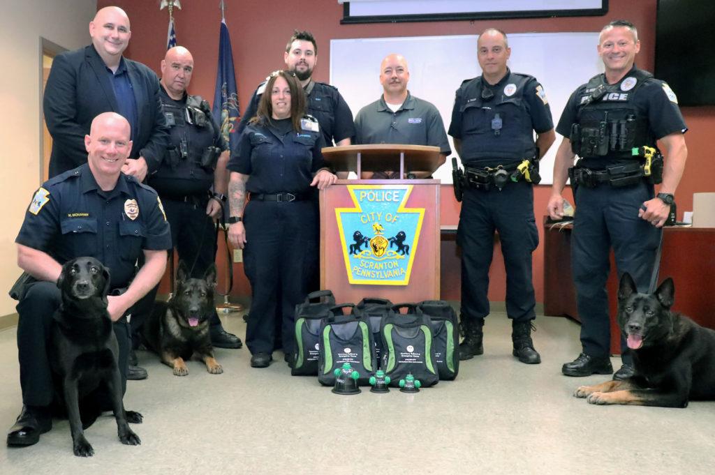 Scranton Police department K9 Unit receives pet oxygen masks to help save lives.